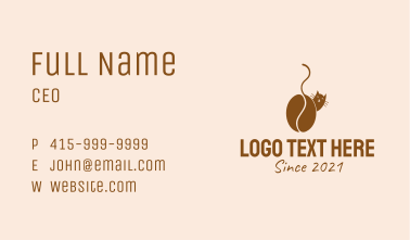 Brown Cat Cafe  Business Card