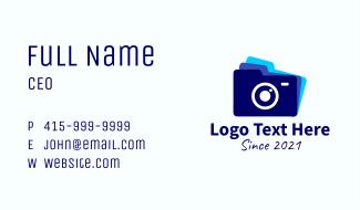 Files Folder Camera Business Card