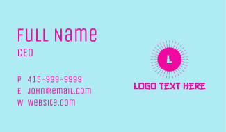 Hot Pink Oriental Letter Business Card