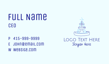 Blue Water Fountain Business Card