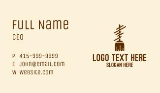 Brown Broom Mop Business Card