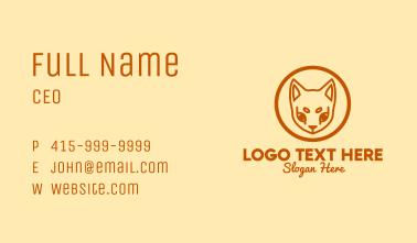 Orange Pet Cat  Business Card