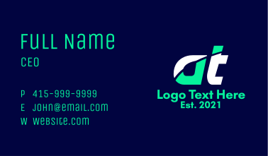 Sports Gear Letter AT Business Card