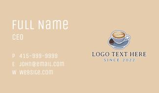 Aesthetic Latte Art Cafe Business Card
