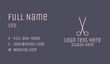 Minimalist Hair Scissors Business Card