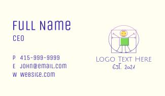 Vitruvian Man Stick Figure Business Card