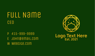 Religious Mosque Star Business Card