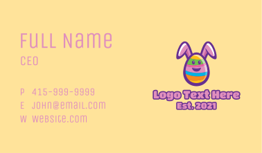 Colorful Easter Bunny Egg Business Card