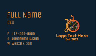 Pizza Food Delivery Business Card