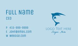 Fishing Blue Marlin Business Card