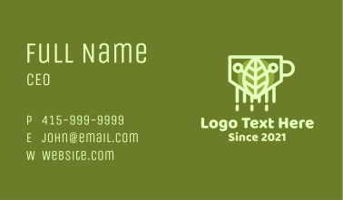 Organic Leaf Tea Business Card