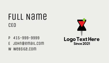 Cocktail Location Pin Business Card