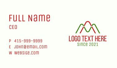 Letter AM Statistics Business Card