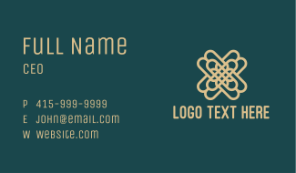 Luxe Ornament Letter X Business Card