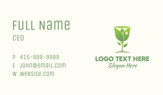 Green Tulip Tea Business Card