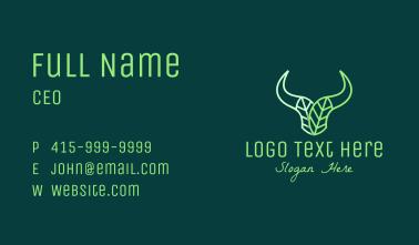 Green Bull Leaves Business Card