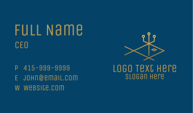 Gold Fish Trident  Business Card