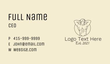 Topless Gentleman Business Card