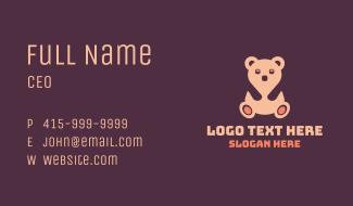 Pink Teddy Bear Business Card