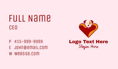 Cute Heart Dog  Business Card