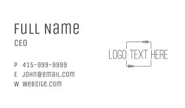 Minimalist Elegant Wordmark  Business Card