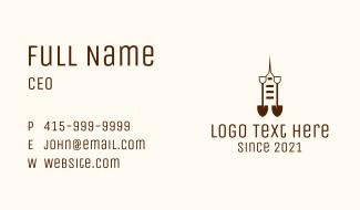 Construction Shovel Tower Business Card