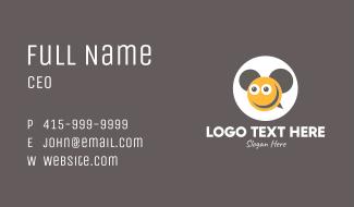 Smiley Bee Ears Business Card