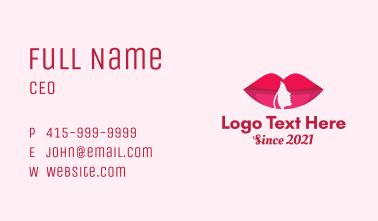 Lady Lips Cosmetics Business Card