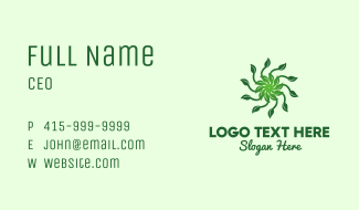 Leaf Sun Business Card