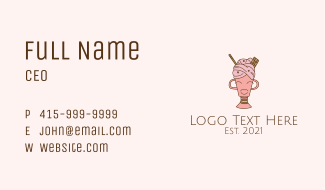 Ice Cream Mascot  Business Card