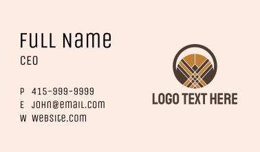 Arabic Circle Decoration  Business Card