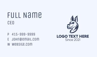 Gaming Kangaroo Mascot Business Card