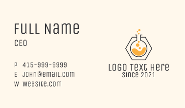 Test Tube Chemical  Business Card