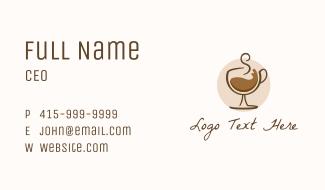 Coffee Wine Glass Business Card