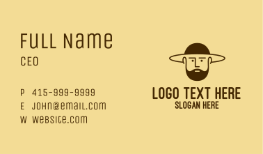 Bearded Hat Man  Business Card