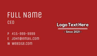 Racing Checkerboard Wordmark Business Card