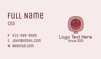 Antique Accent Chair  Business Card