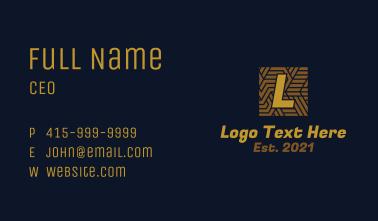 Art Deco Tile Letter Business Card