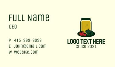 Vegetable Juice Jar Business Card