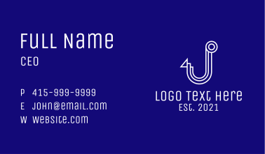 White Hook Letter J Business Card