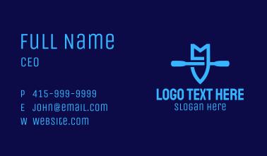 Blue Boat Letter M Business Card