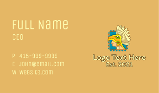 Aztec Avatar Headdress Business Card