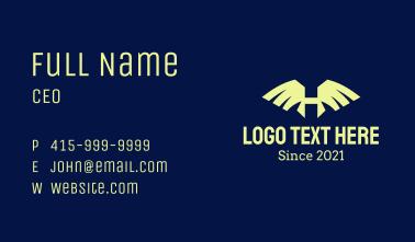 Hawk Wings Letter H Business Card