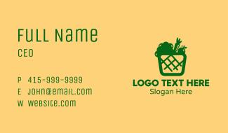 Green Vegetable Basket Business Card