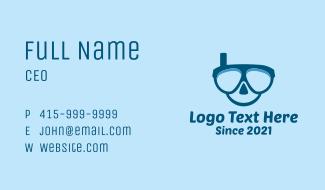 Aquatic Snorkeling Mask Business Card