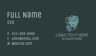 Male Torso Monoline Scribble Business Card