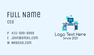 Digital Computer Desk Business Card