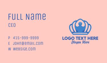 Elegant Blue Tiara Business Card