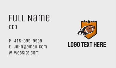 American Football Team Business Card