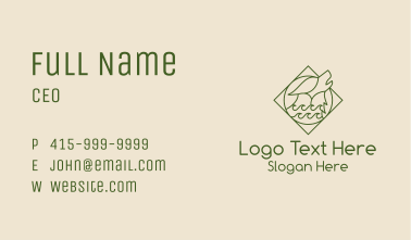Green Wolf Badge Business Card